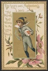 Valentine Card Vintage Old