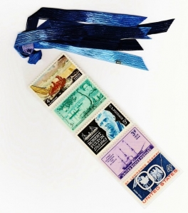 Postage Stamps Bookmark Craft