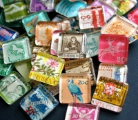 Postage Stamp magnets craft
