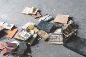 vintage books paper